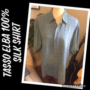 Tasso Elba 100% Silk Men's Shirt XL